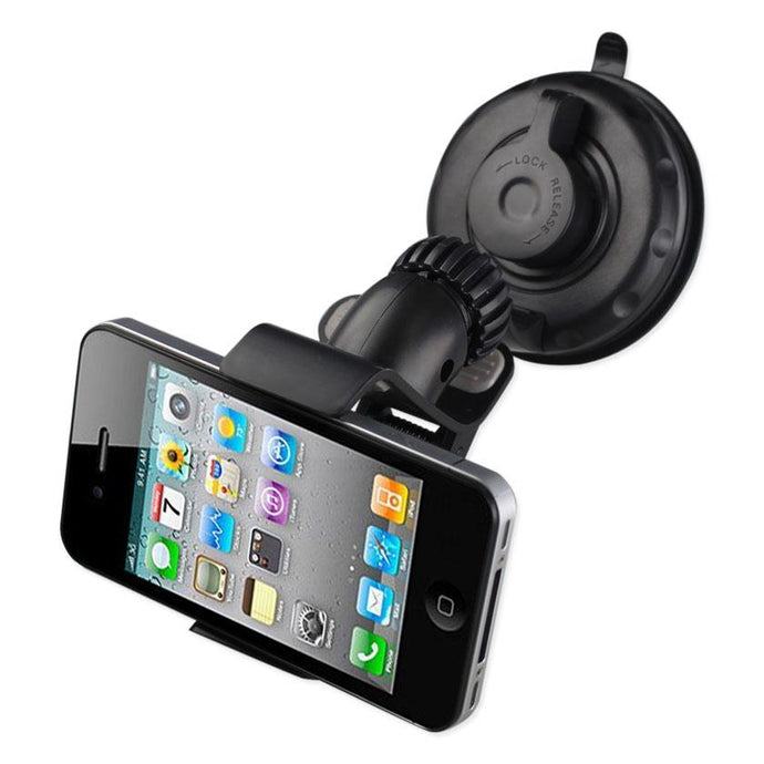 Reiko 360 Universal Suction Glass Window Phone Holder In Black