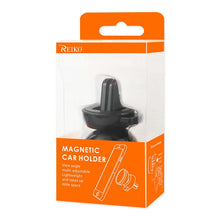 Load image into Gallery viewer, Reiko Universal Air Vent Magnetic Car Mount Phone Holder In Black