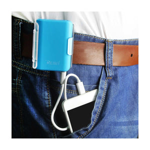 Reiko 4000mah Universal Power Bank With Cable In Blue