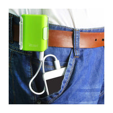 Load image into Gallery viewer, Reiko 4000mah Universal Power Bank With Cable In Green