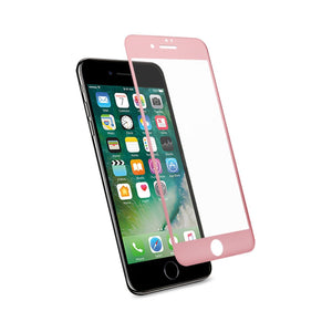 Reiko Iphone 7 3d Curved Full Coverage Tempered Glass Screen Protector In Rose Gold