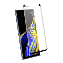Load image into Gallery viewer, Reiko Samsung Galaxy Note 9 3d Curved Full Coverage Tempered Glass Screen Protector In Black