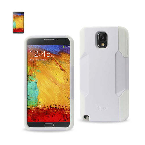 Reiko Samsung Galaxy Note 3 Hybrid Heavy Duty Case In White