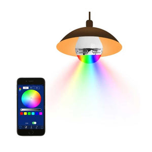 Reiko Universal Light Bulb Bluetooth Spectrum Led Light Speaker In White