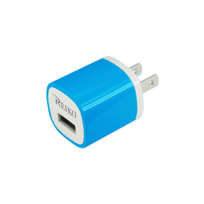 Reiko 1 Amp Wall Usb Travel Adapter Charger In Blue