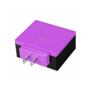 Reiko 4 Amp Four Ports Portable Travel Station Charger In Purple