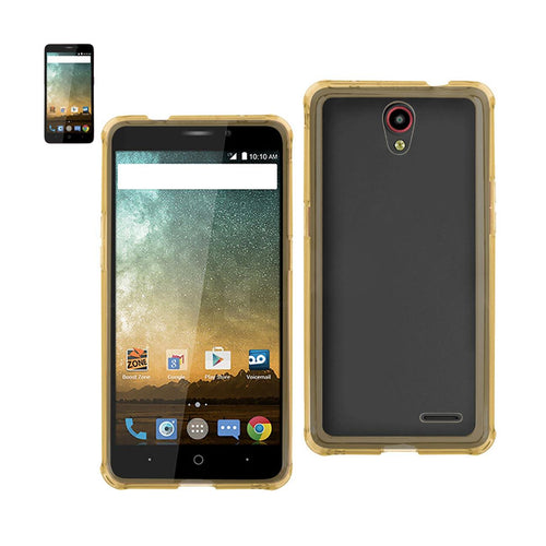 Reiko Zte Prestige Mirror Effect Case With Air Cushion Protection In Clear Gold