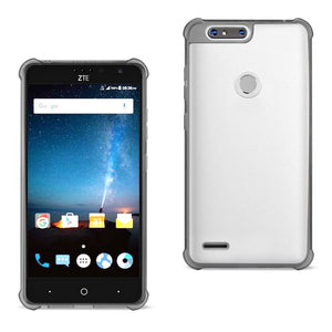 Reiko Zte Blade Z Max-z982-zte Sequoia Clear Bumper Case With Air Cushion Protection In Clear Black