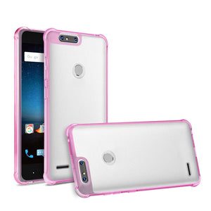 Reiko Zte  sequoia Clear Bumper Case With Air Cushion Protection In Clear Hot Pink