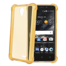 Load image into Gallery viewer, Reiko Zte Maven 2- Chapel (z831) Clear Bumper Case With Air Cushion Protection In Clear Gold