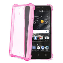 Load image into Gallery viewer, Reiko Zte Maven 2- Chapel (z831) Clear Bumper Case With Air Cushion Protection In Clear Hot Pink