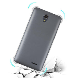 Reiko Zte Maven 2- Chapel (z831) Clear Bumper Case With Air Cushion Protection In Clear
