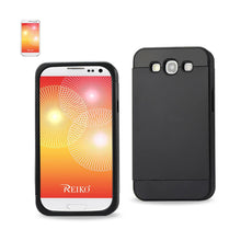 Load image into Gallery viewer, Reiko Samsung Galaxy S3 Hybrid Case With Card Holder In Black