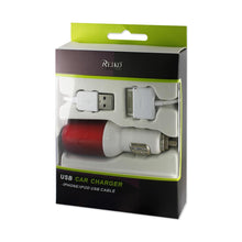 Load image into Gallery viewer, Reiko Iphone 4g 1 Amp Usb Car Charger With Cable In Red