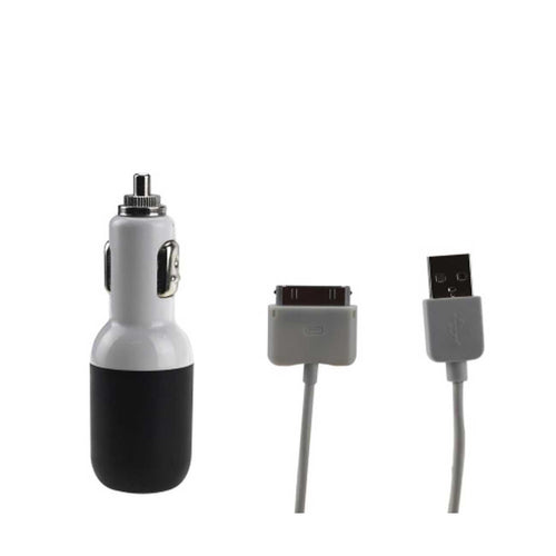 Usb Car Charger For Apple Ipad 2a5v Black With 39inches Usb Data With Usb Data Cable