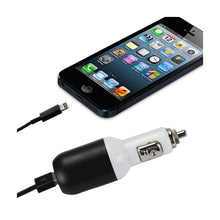 Load image into Gallery viewer, Reiko Iphone 5- Se 2 Amp Usb Car Charger With Cable In Black