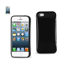Load image into Gallery viewer, Reiko Iphone Se- 5s- 5 Slim Armor Hybrid Aluminum Case In Black