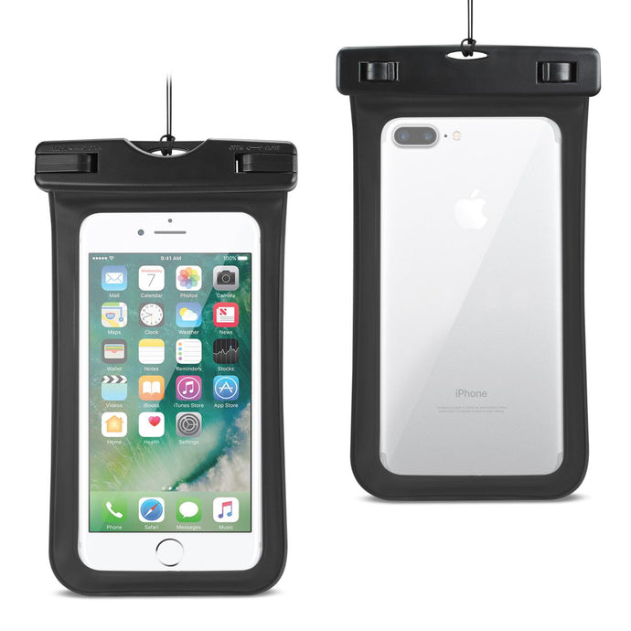 Reiko Waterproof Case For Iphone 6 Plus- 6s Plus- 7 Plus Or 5.5 Inch Devices With Wrist Strap In Black
