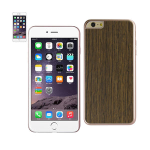 Reiko Iphone 6 Plus Wood Grain Slim Snap On Case In Red Gold