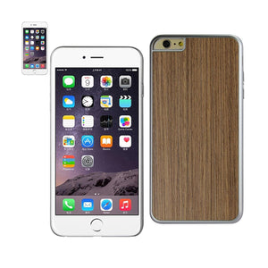 Reiko Iphone 6 Plus Wood Grain Slim Snap On Case In Silver