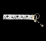 White Rabbit- I Shall Be Late! Alice in Wonderland Wristlet Keychain
