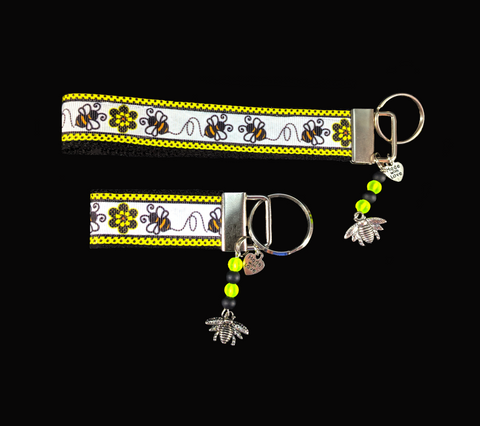 Busy Bees Wristlet Keychain