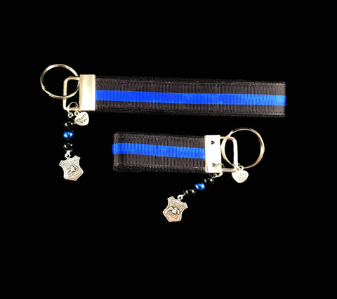 Thin Blue Line, Police Ribbon Key-chain
