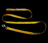 Handcrafted Sunflowers on Brown Nylon Webbing Fashion Dog Leash/ Lead