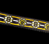 Handcrafted Boston Bruins Hockey Nylon Webbing Fashion Dog Leash/Lead