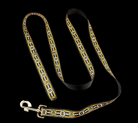 Boston Bruins Dog Leash Lead Hockey Black Gold