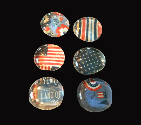Patriotic Magnet Set of Six