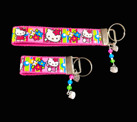 Hello Kitty Wristlet Fob Keychain