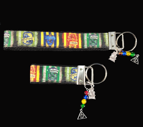 Harry Potter Hogwarts Houses Wristlet Keychain