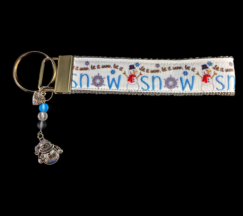 Let It Snow-man Wristlet Keychain