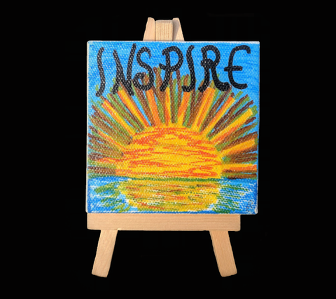 """Inspire"" Mini Painting With Easel"
