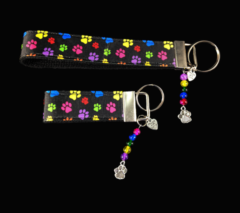 Paw Prints Ribbon Key-chain