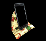 Poinsettia Holiday Cell Phone Pillow Stand