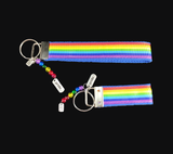 Rainbow Pride LGBTQ Ribbon Key-chain