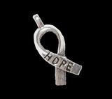 Silver Hope Ribbon Charm