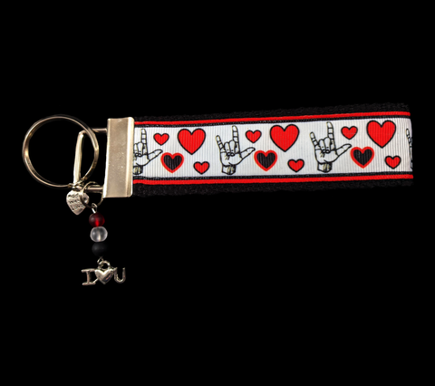 Signs of Love, A Sign Language Wristlet Keychain