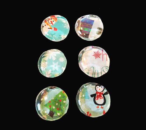 Winter Holiday Magnet Set of Six