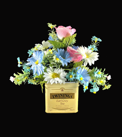 Earl Gray Floral Tea Tin Flowers