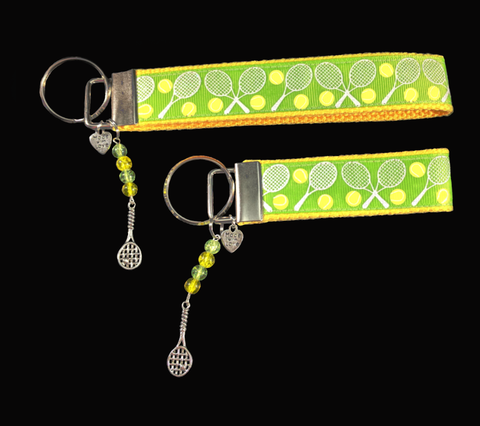 Vibrant Tennis Ribbon Key-chain