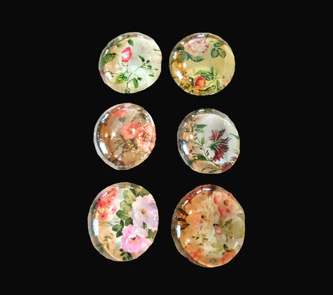 Victorian Garden Magnet Set of Six