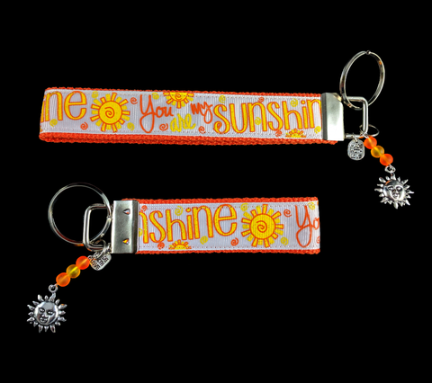 You Are My Sunshine Wristlet Keychain
