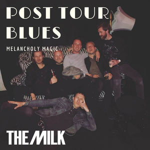 Picture of the Milk band backstage for Spotify playlist