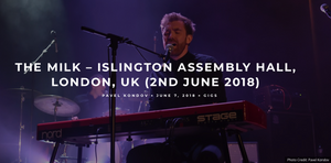 Rick Nunn from The Milk Band live at Islington assembly hall playing Nord keyboard and singing