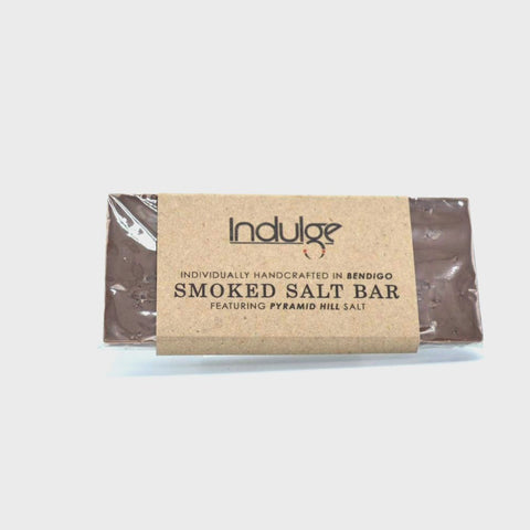 Indulge Milk Choc Smoked Salt bar