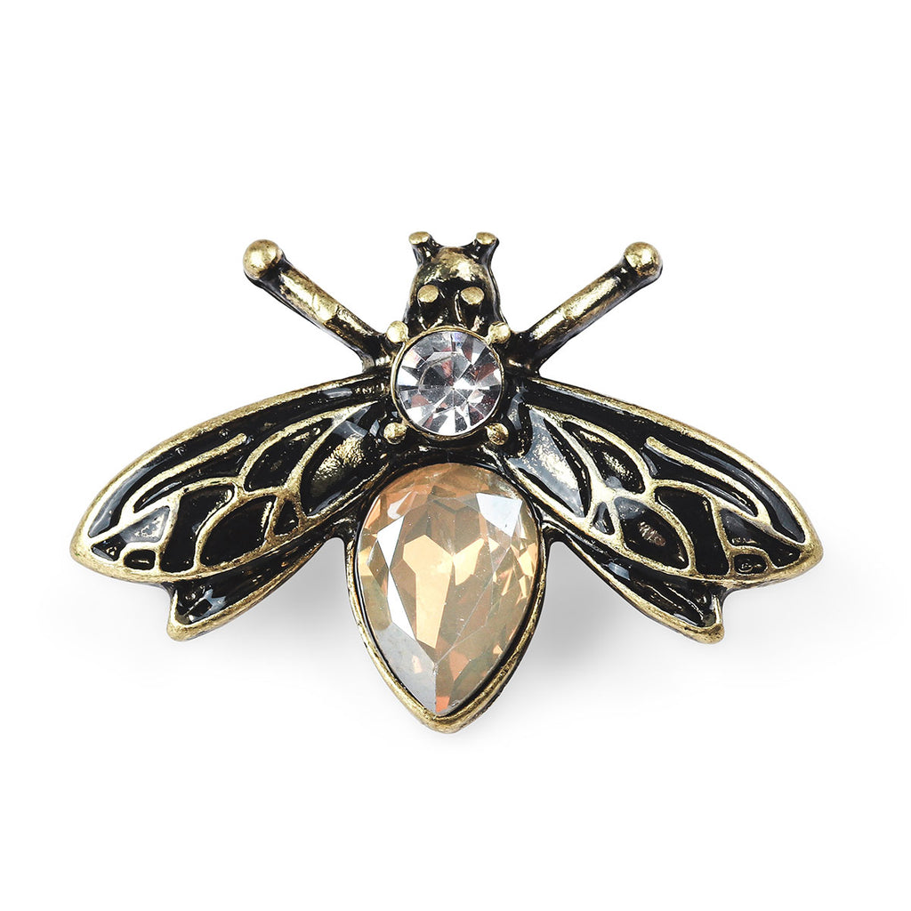 Crystal Bug Brooch