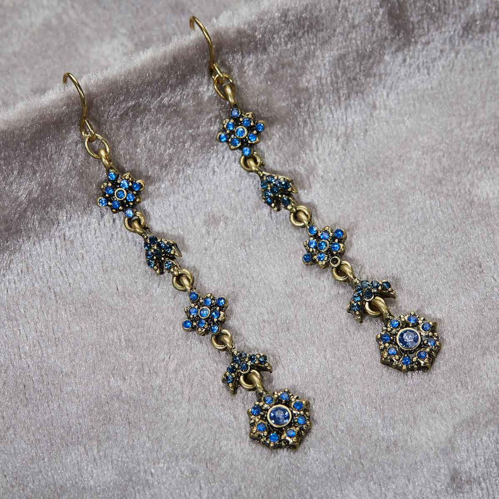 Antique Floral long Drop Earrings